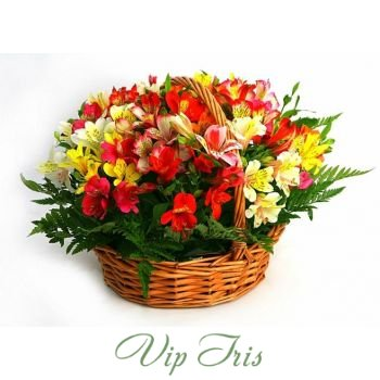 Artistic Basket of Flowers